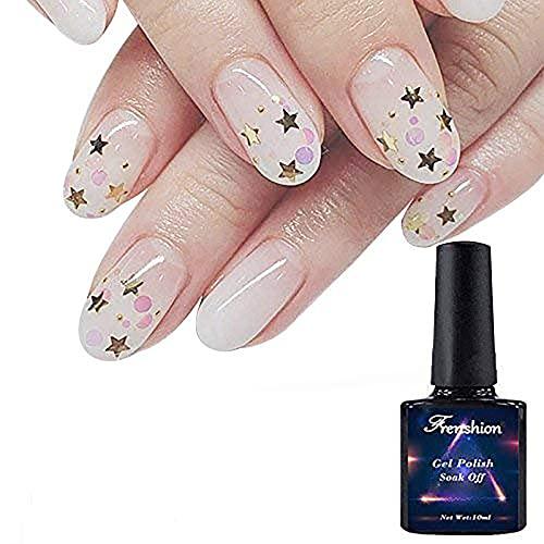 Frenshion 10ML Chiaro Colore Della Proteina Lattiginosa UV LED Soak Off Gel Smalto per unghie Manicure 20425