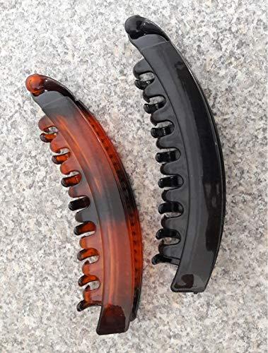 takestop® FERMACODA 0127 Banana 10 CM Pesce Pettine per Capelli Ferma Coda CODINI CODINO Ferma Capelli Colore Casuale