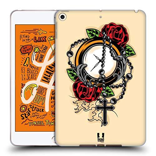 Head Case Designs Rosario Tatuaggi Old School Cover in Morbido Gel e Sfondo di Design Abbinato Compatibile con Apple iPad Mini (2019)