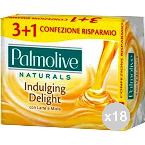 Set 18 PALMOLIVE Saponette 3+1 Latte/Miele Cura E Pulizia Del Corpo