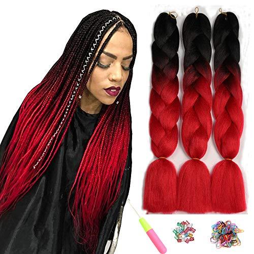 Showjarlly Jombo treccia capelli sintetici 100 g/PC 61 cm lungo Kanekalon africano trecce extension 3pcs/lotto