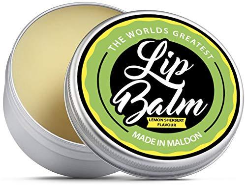 Il migliore balsamo per labbra al mondo. Riparare, curare, proteggere, idratare. Sapore di limone con burro di karitè, cera d'api, olio di jojoba, olio di canapa