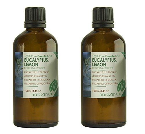 Naissance Olio di Eucalipto Citriodora – Olio Essenziale Puro al 100% - 200ml (2x100ml)