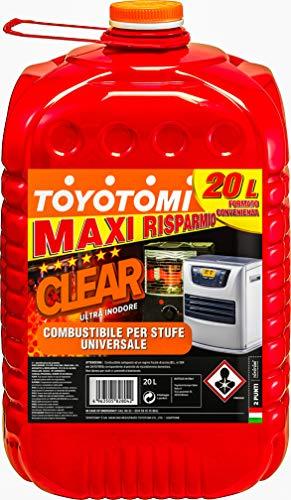 Toyotomi CLEAR20L Clear Ultra inodore per Stufe a combustibile 20 Litri, Aromatici  0.003%, Gold_20