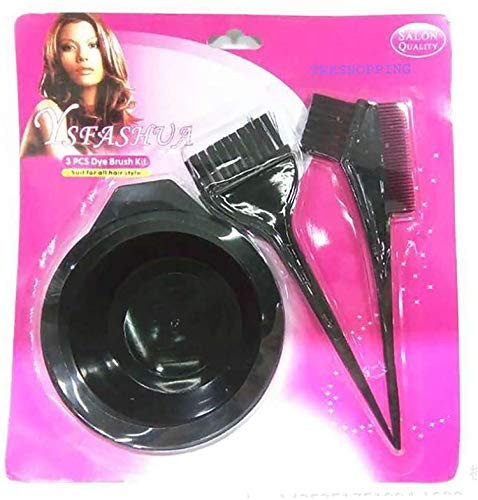 Kit Colorazione Capelli Tinta Ciotola Colore Pennello Pettine Tintura Professionale Parrucchiere Spazzola Hair Colouring Brush Bowl (Small)