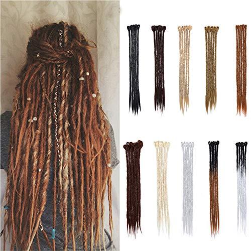 50cm-Dreadlock Extension Capelli Colorati Capelli Lunghi Dreadlocks Braiding Hair Treccine Rasta Extension Capelli Finti–Biondo Chiarissimo