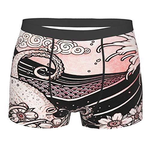 Giapponese Stile Tatuaggio Originale Disegno Disegno Degli Uomini Boxer Slip Morbido Traspirante Stretch Biancheria Intima Novità Mutande Nero M