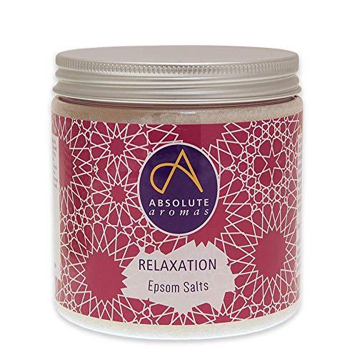 Absolute Aromas Sali da Bagno Epsom Relaxation Rilassamento 575 g - Solfato di Magnesio infuso con Oli Essenziali Puri al 100% - Oli di Camomilla, Lavanda e Mandarino