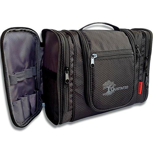 GUSTATIO – Beauty case premium – XXL – Grande borsa da bagno da appendere con molti scomparti e spazio per viaggi, campeggio e attività all'aperto, ultra leggera