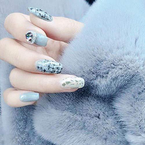 YFLDK Unghie finte Smalto per unghie manuale smontabile indossabile impermeabile smontabile per le donne in gravidanza