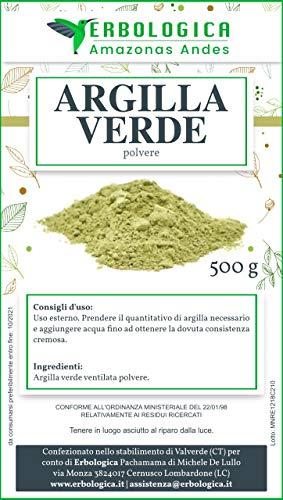 Argilla verde polvere ventilata 500 grammi