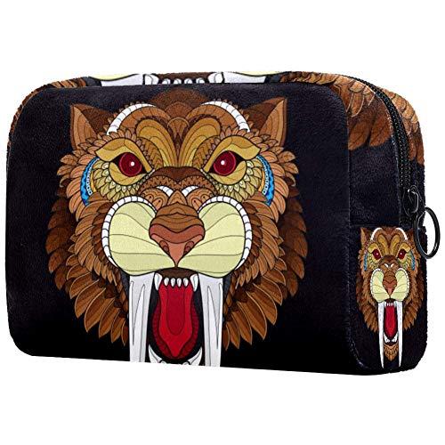 Tiger Head - Beauty case da viaggio in nylon impermeabile