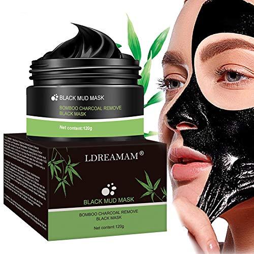 Maschera Punti Neri,Maschera Nera,Maschera Viso Punti Neri,Maschera Purificante peel-off Mask con carbone attivo per una profonda pulizia dei pori di crema per il viso 120g