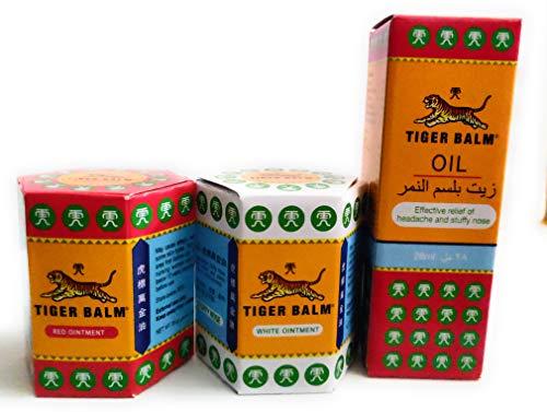 Tiger Balm OIL 28ml,Balsamo di tigre rosso 30g,Balsamo di Tigre BIANCO 30gr