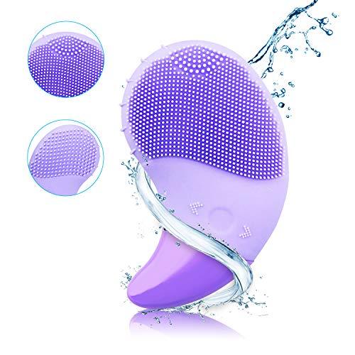 Spazzola Pulizia Viso Elettrico Silicone Sonic Impermeabile Ricaricabile anti-invecchiamento ridurre l' acne