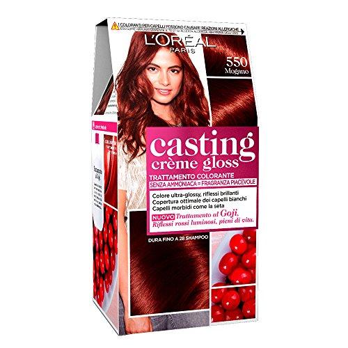 L'Oréal Paris Tinta Capelli Casting Creme Gloss, senza Ammoniaca per una Fragranza Piacevole, 550 Mogano, Confezione da 1