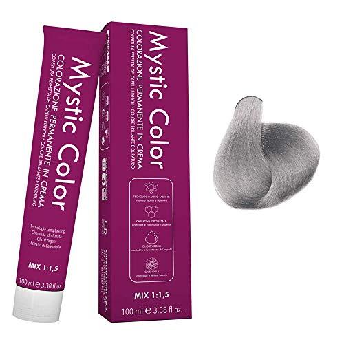 Mystic Color - Correttore Cenere - Tinta per Capelli - Colorazione Professionale in Crema a Lunga Durata - Con Cheratina Idrolizzata, Olio di Argan e Calendula - 100 ml