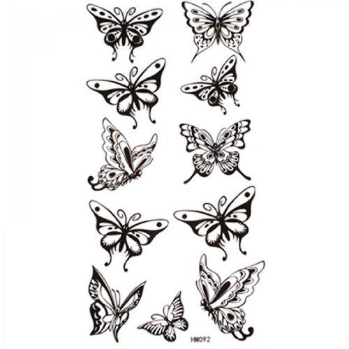 SPESTYLE impermeabile tatuaggio temporaneo atossico stickersWaterproof e sudore temporanea tatuaggi sexy farfalla nera