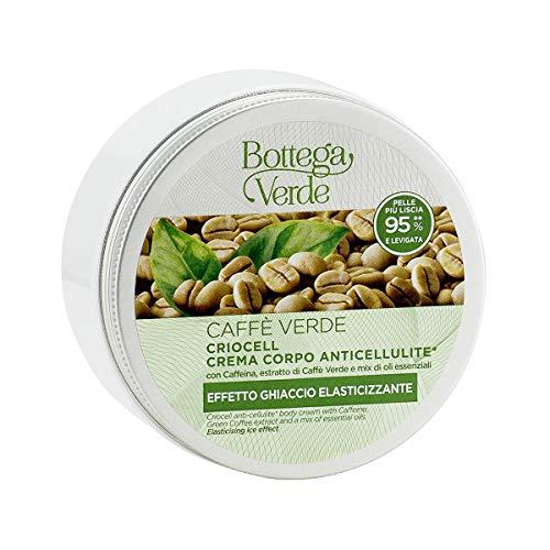 Bottega Verde, Caffe Verde - Criocell crema corpo anticellulite* - con Caffeina, estratto di Caffe Verde e mix di oli essenziali (200 ml) - effetto ghiaccio elasticizzante