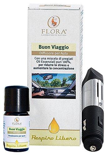 Flora Diffusore Oli Essenziali per Auto - Kit Completo