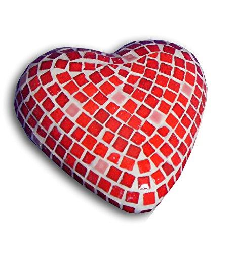 ALEA Mosaic Set di costruzione a mosaico, scultura 3D, cuore x2