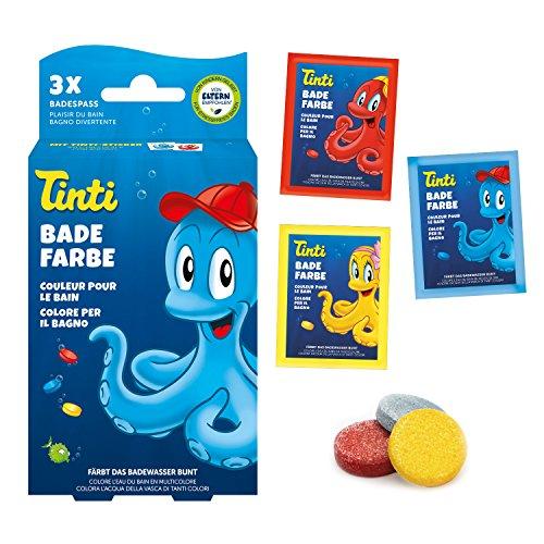 Tinti - Set di 3 colori per bagno, colore: blu, giallo, rosso
