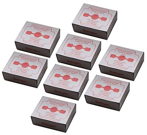 Solingen - Lame di ricambio per affettare i calli, in acciaio inossidabile, confezionate singolarmente