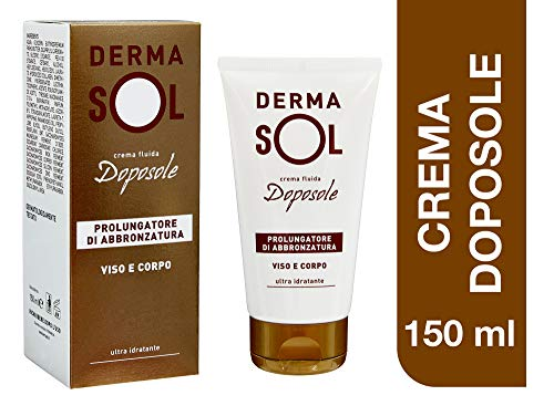 Dermasol Crema Doposole, Prolunga l'Abbronzatura e Favorisce la Produzione di Melanina - 150 ml