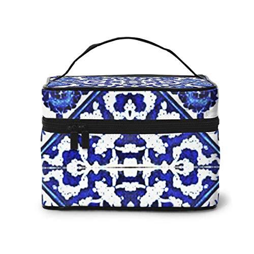 Liang4268 Chevron Tiles Fabric (3537) - Trousse da viaggio per trucchi e trucchi, per donne