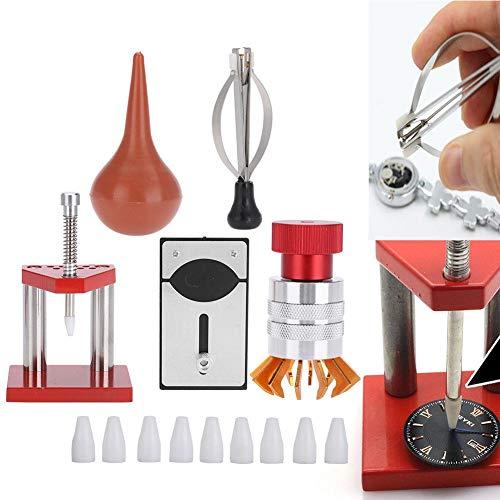 Kit di riparazione per orologi, 5 pezzi, soffiatore ad aria per orologio in gomma, dispositivo di apertura della cassa, strumento di regolazione manuale