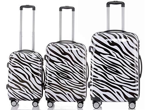 B&B, Set di valigie nero/bianco nero/bianco Set