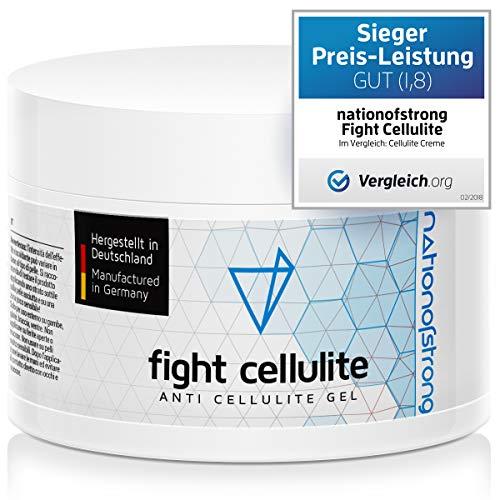 Fight Cellulite - 225ml crema anticellulite - gel anticellulite professionale e forte - prodotto in Germania - crema anticellulite rassodante e fortemente riscaldante per gambe, glutei, cosce