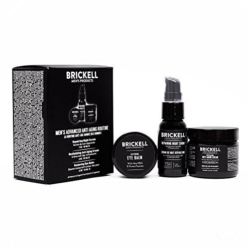 Brickell Men's Products Crema Notte Rivitalizzante Anti-invecchiamento e Antirughe, Crema per gli Occhi per Ridurre le Occhiaie, le Rughe, le Borse sotto gli Occhi, Siero alla vitamina C per il Viso