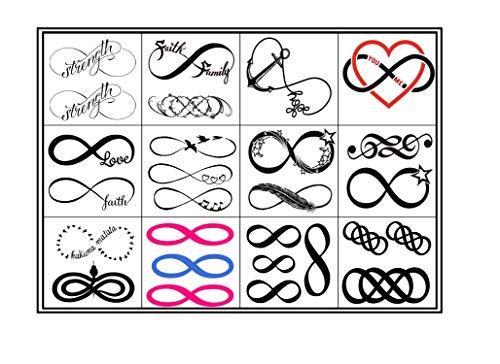 Collezione di tatuaggi temporanei Temporary Tattoos collection (Tatuaggio infinito Infinity Tattoo)