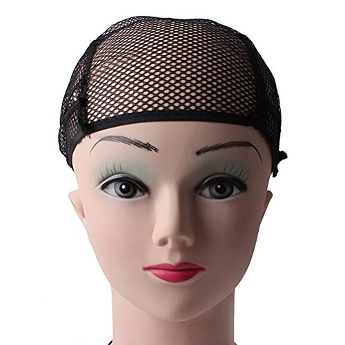 Pixnor - Rete per capelli per parrucca, color beige, in nylon, unisex
