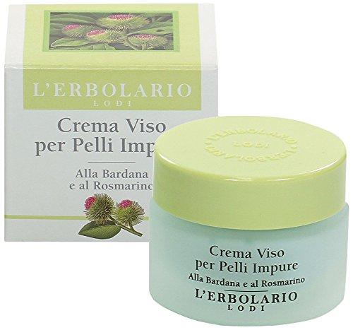 L'Erbolario, Crema Viso per Pelli Impure, Trattamento Opacizzante e Riequilibrante, 30 ml