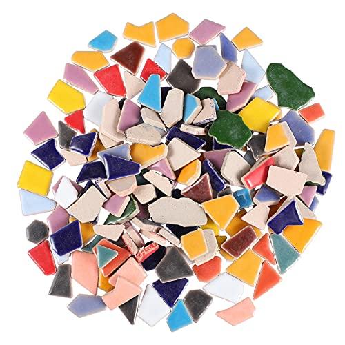 EXCEART 200G Rotto di Ceramica Mosaico di Piastrelle di Mosaico in Ceramica Pezzi Chip Piastrelle in Ceramica Pezzi Piastrelle Smaltate per' Artigianato Fai da Te Mosaico di Pietra