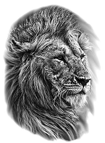 Tatuaggio per tatuaggio a forma di leone, per festival, tatuaggio
