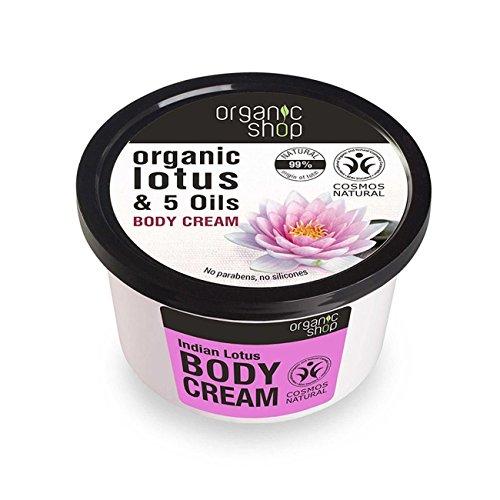 Organic Shop indiano loto e 5oli crema corpo, 250ml