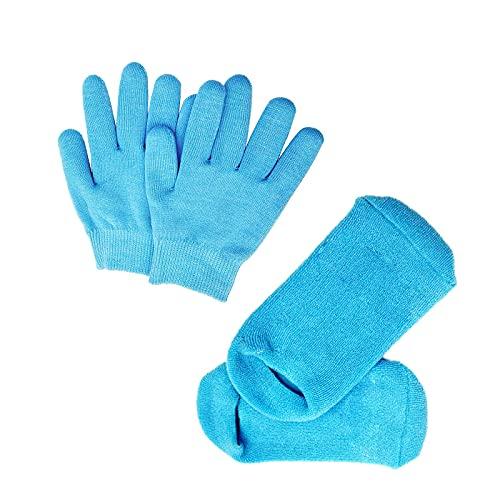 Pinkiou Ammorbidire SPA Gel Idratante guanti e calzini per idratare la cura della pelle cracking (Blu)
