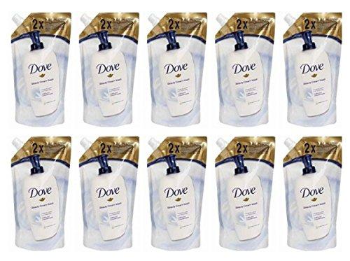 10 X DOVE SAPONE LIQUIDO ORIGINAL RICARICA 500 ml Beauty Cream bar CORPO MANI MAXI