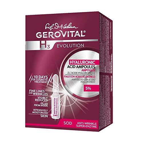 Gerovital H3 Evolution - Fiale con Acido Ialuronico 5% - Tipo di pelle: Per tutti i tipi di pelle (10 fiale x 2 ml)