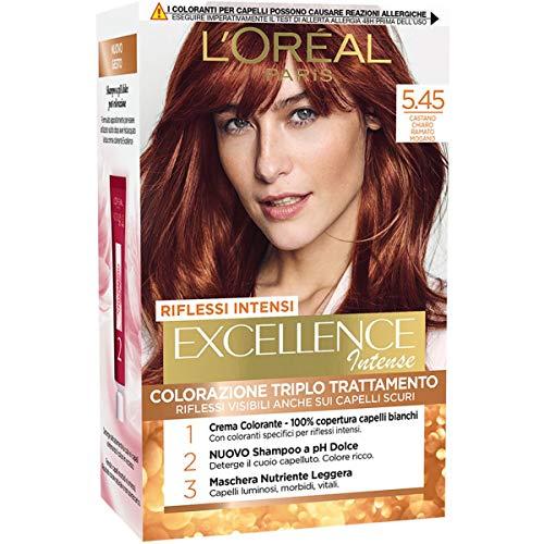 L'Oréal Paris Tinta Capelli Excellence Intense Castano Chiaro Ramato Mogano 5.45