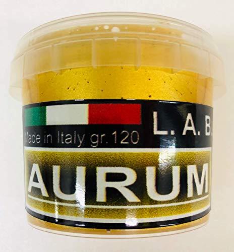 L.A.B. Doratura Acrilica ad Acqua, Effetto ORO FOGLIA, GOLD LEAF, 120 gr. ( 125 ml. ) NEW FORMULA (1)