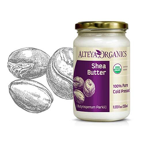 Alteya Organic Burro di Karité 350 ml – 100% USDA certificato organico puro naturale burro di karité (Butyrospermum Parkii) raffinato