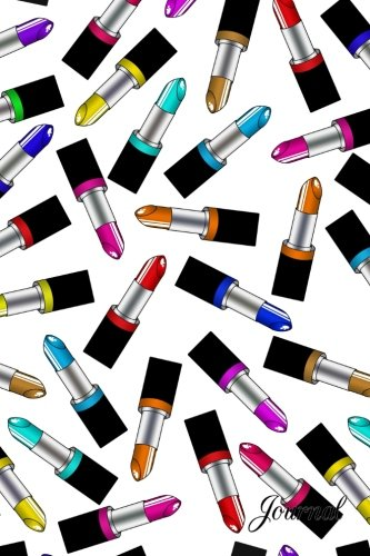 Journal: White rainbow lipstick notebook