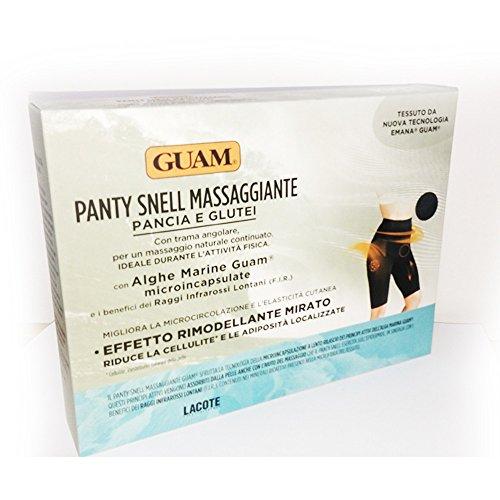 Guam - Panty Snell MASSAGGIANTE Colore Nero con Alghe Marine (L/XL (46-50))