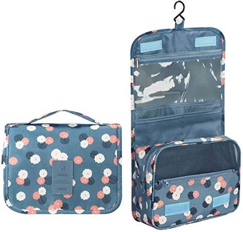 Beauty Case da Viaggio,Appeso Trousse da Toilette,Multi-compartimenti per Organizzare Oggetti Personali,Accessori