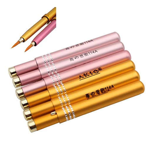 Set pennelli per labbra Sipliv di 6 rossetto pennello per trucco rossetto bacchette per lucentezza applicatore pennelli per eyeliner regalo di trucco