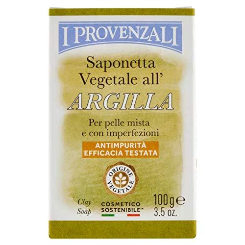 I Provenzali Saponetta Vegetale All'Argilla Per Pelle Mista E Con Imperfezioni 100 Grammi
